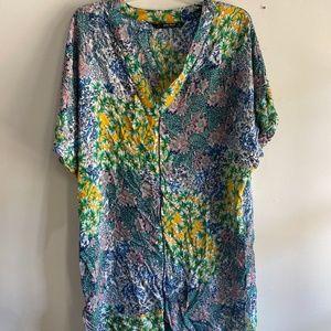 Zara floral tunic beach cover up